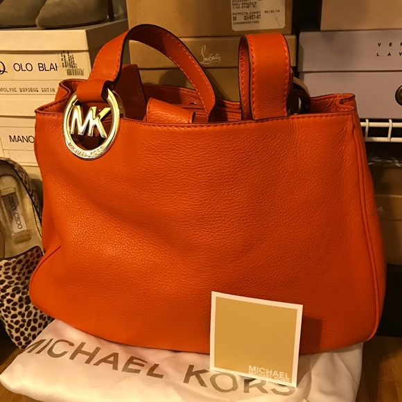 2a4a9cbcaabae1 Michael Kors Bags | Orange Hobo Bag | Poshmark